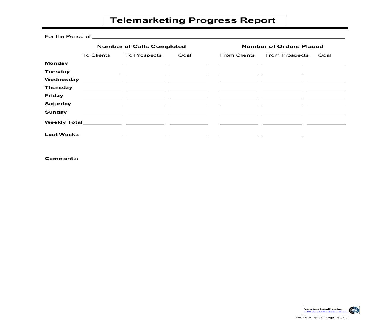 Telemarketing Progress Report | Pdf Fpdf Doc Docx | Business Forms