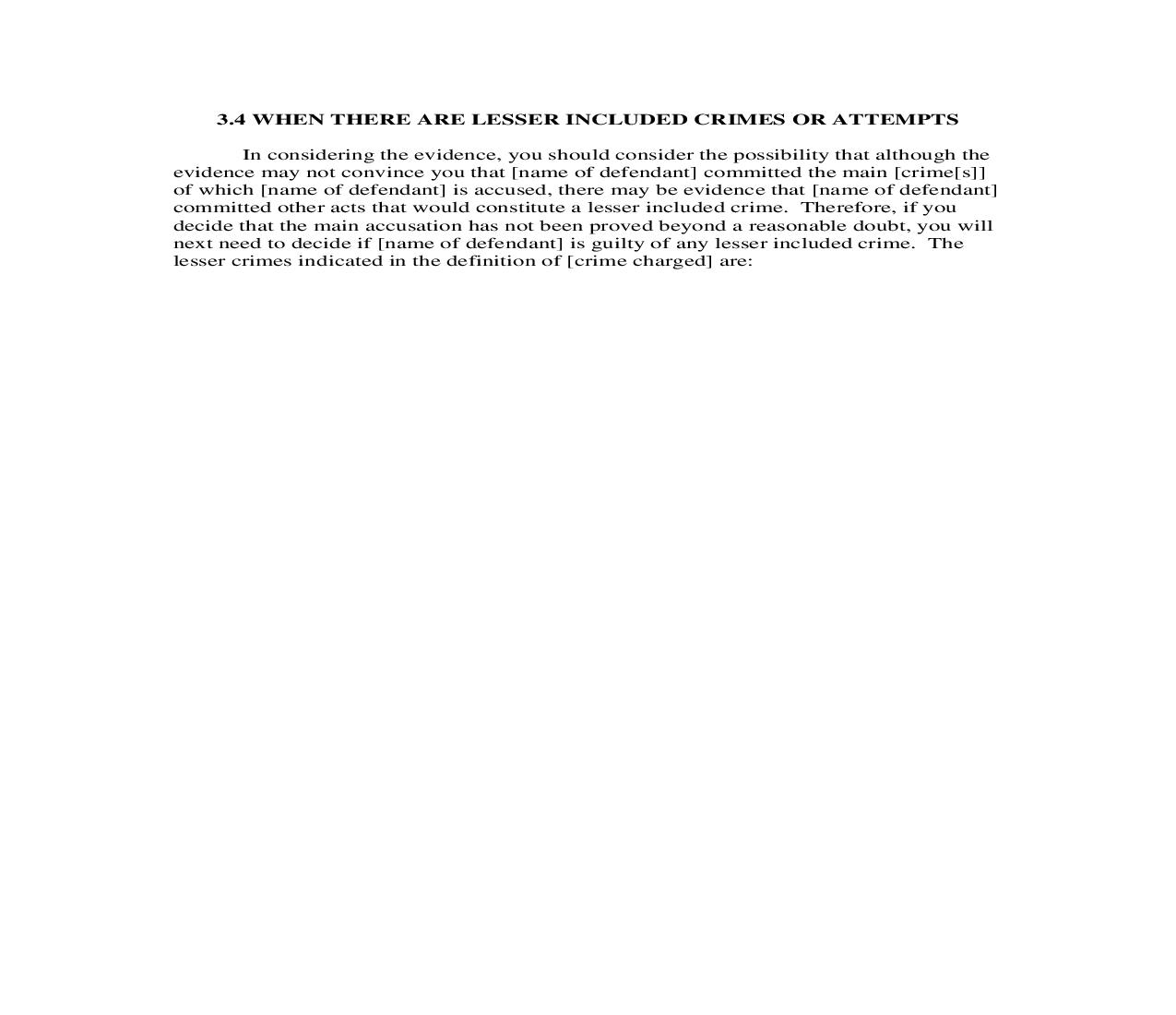 3.4. When there are Lesser Included Crimes or Attempts | Pdf Doc Docx | Florida_JI