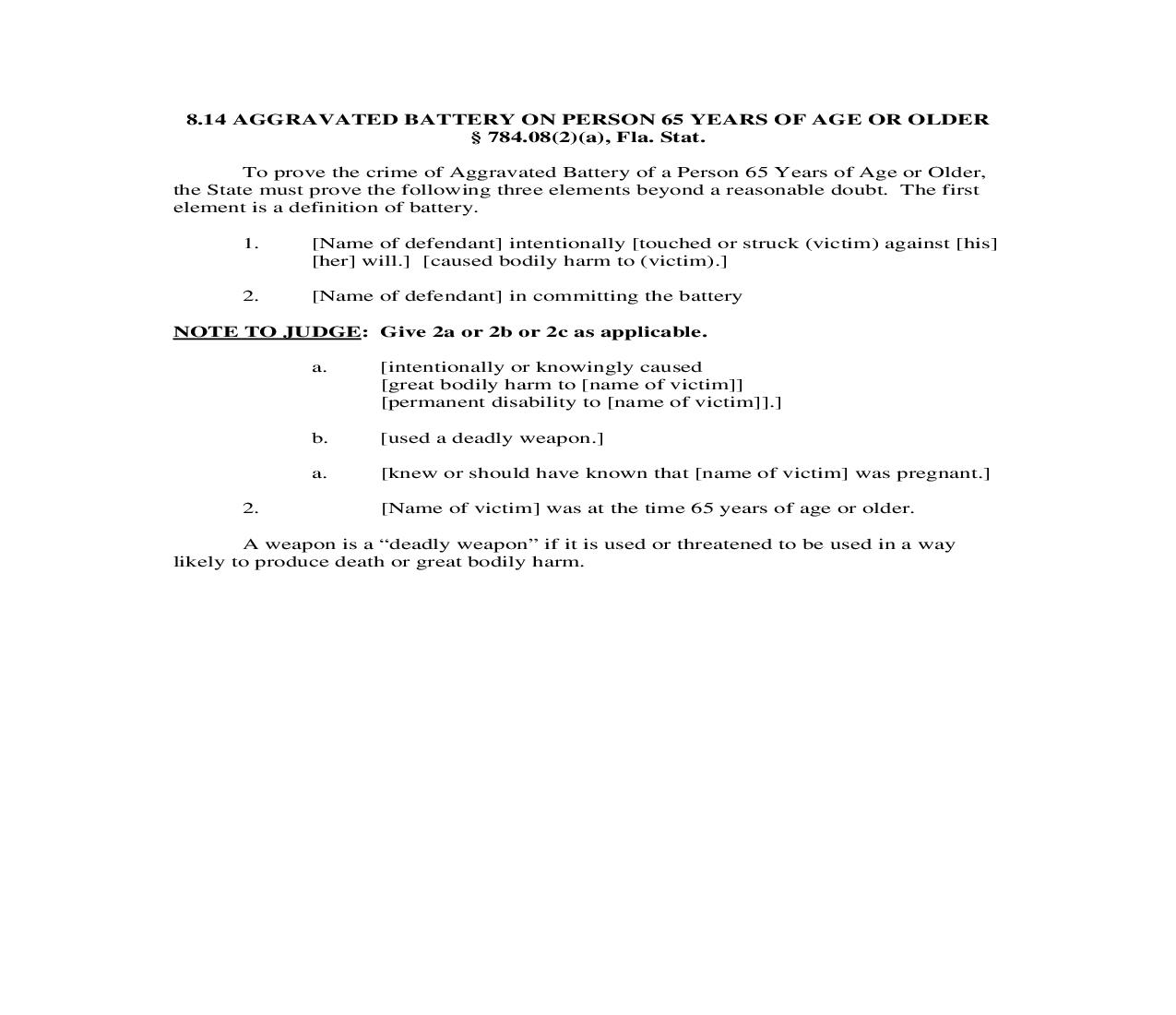 8.14. Aggravated Battery On Person 65 Years Of Age Or Older | Pdf Doc Docx | Florida_JI