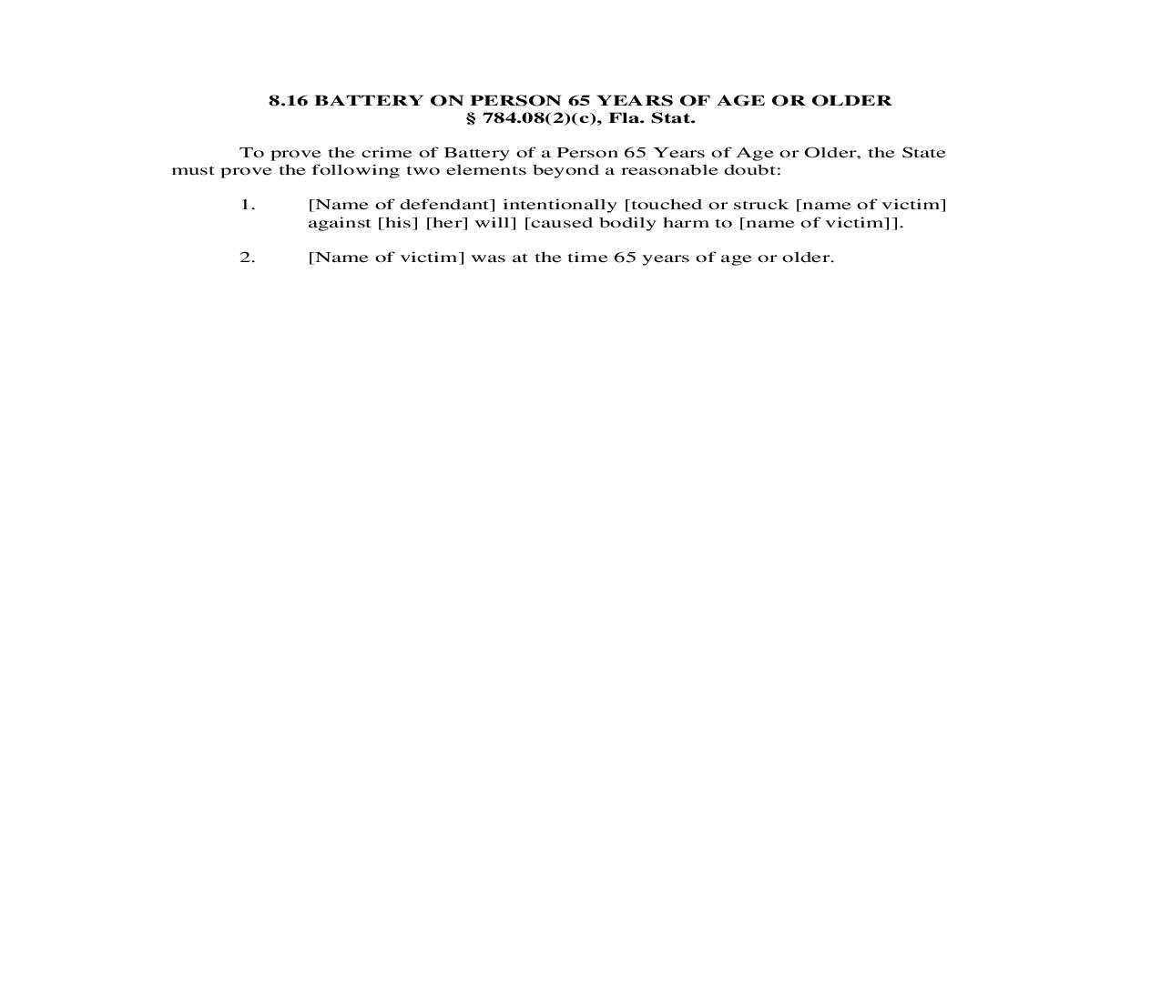 8.16. Battery On Person 65 Years Of Age Or Older | Pdf Doc Docx | Florida_JI