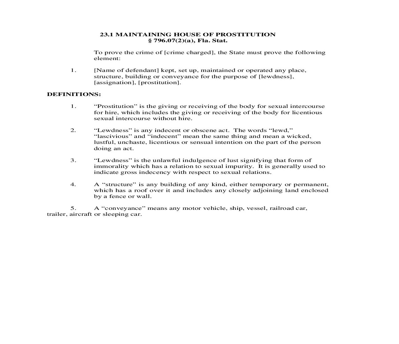 23.1. Maintaining House Of Prostitution | Pdf Doc Docx | Florida_JI