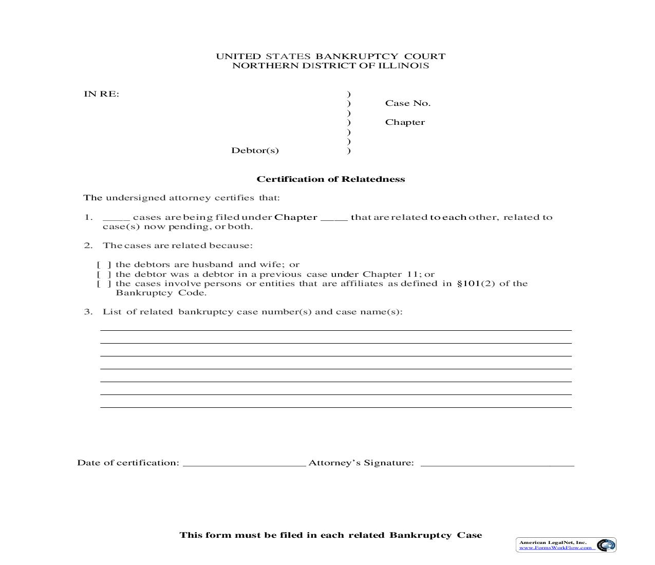 (Amended) Certification Of Relatedness | Pdf Fpdf Doc Docx | Illinois