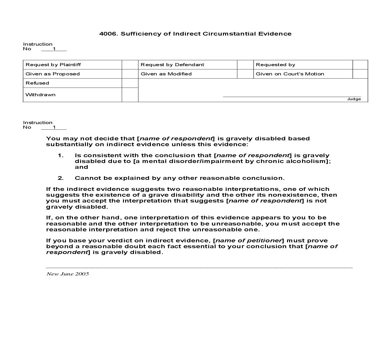 4006. Sufficiency of Indirect Circumstantial Evidence | Pdf Doc Docx | Jury Instructions