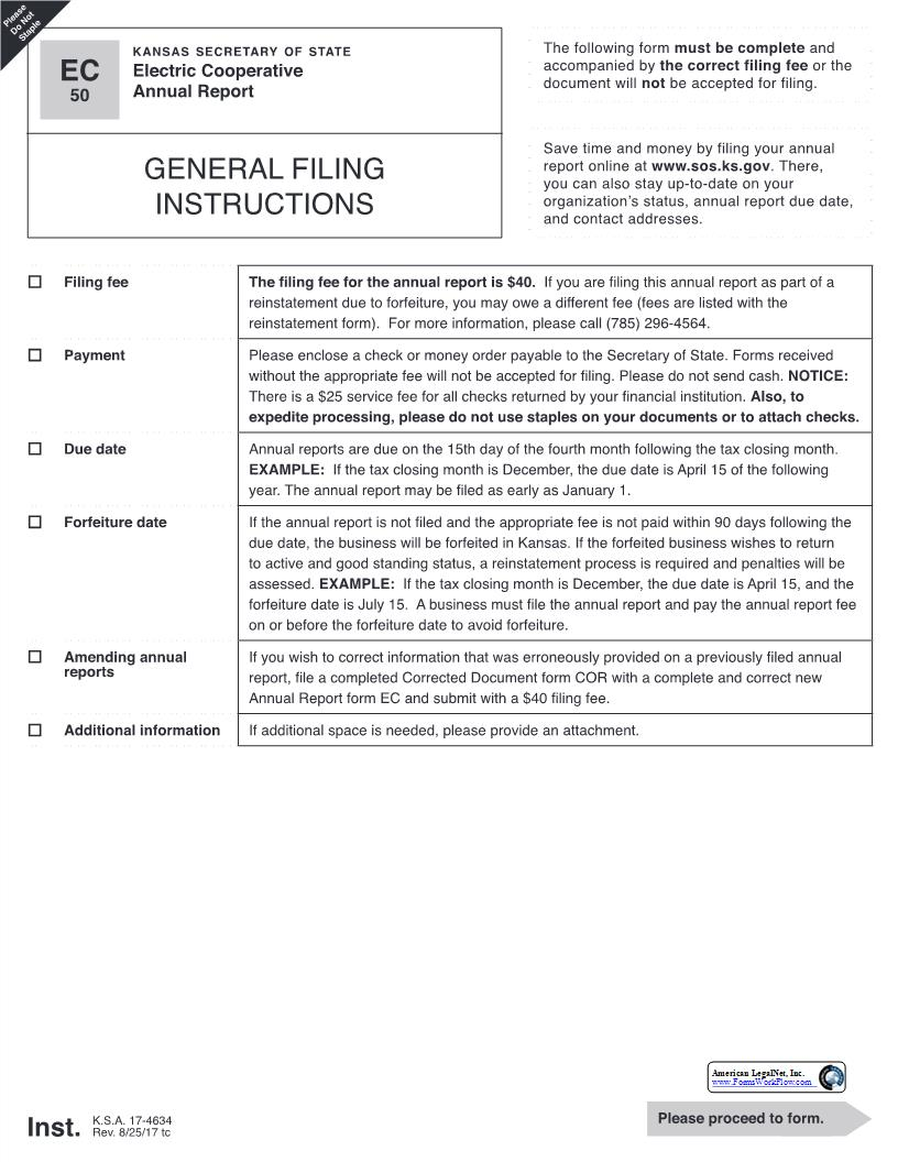 Annual Report Form | Electronic Cooperative Annual Report Pdf Fpdf Docx Kansas