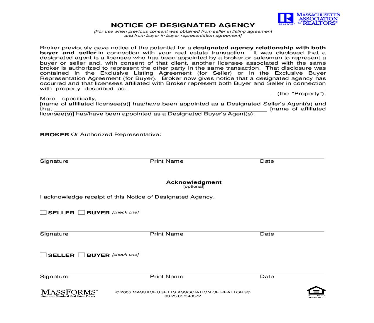 Notice Of Designated Agency {713} | Pdf Fpdf Doc Docx | Murtha Cullina
