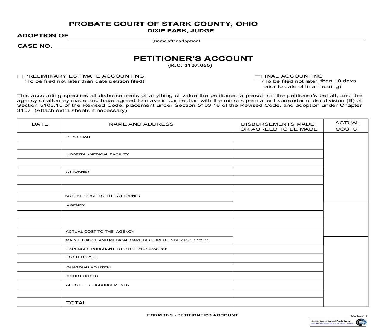 Petitioners Account {18.9} | Pdf Fpdf Doc Docx | Ohio