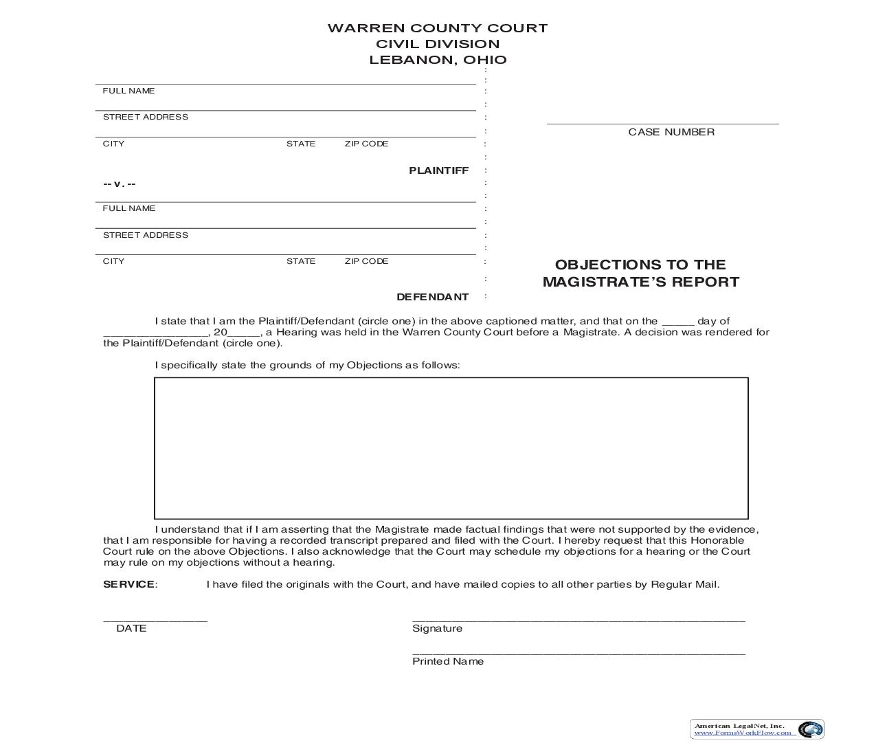 Objections To The Magistrates Report   Pdf Fpdf Doc Docx   Ohio