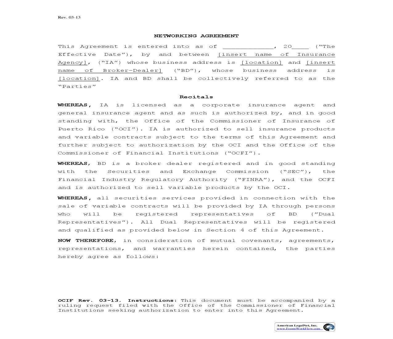 Networking Agreement | Pdf Fpdf Doc Docx | Puerto Rico